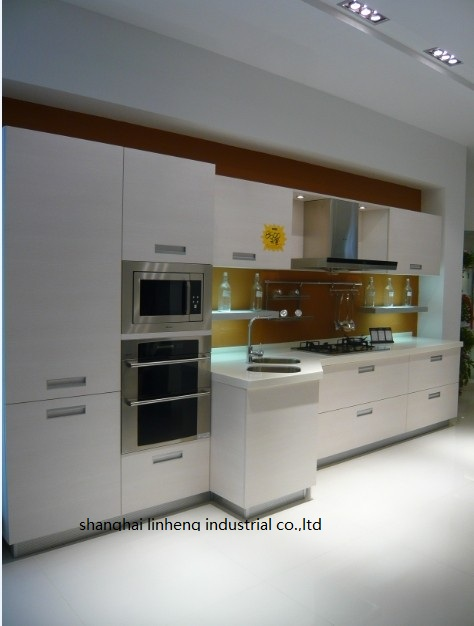 Melamine/mfc Kitchen Cabinets(LH-ME050)