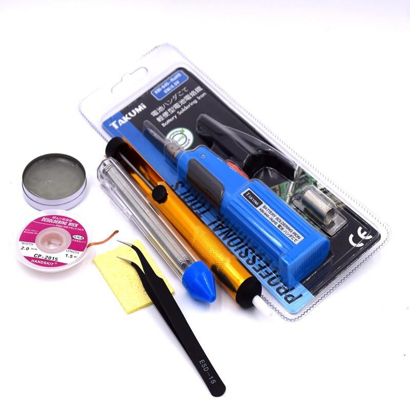 Mini portable TAKUMI KBI-645 Battery electric soldering iron 6W 4.5V Repair welding tools Mini portable TAKUMI KBI-645  цены