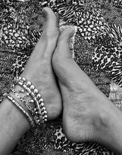 High Quality Silver Chain Fashion Anklet font b Bangle b font Handmade Floral Coin Boho Gypsy