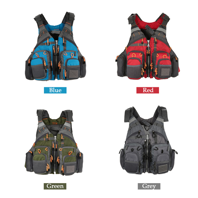Adjustable Mesh Mutil-Pocket Outdoor Sport Life Safety Jacket