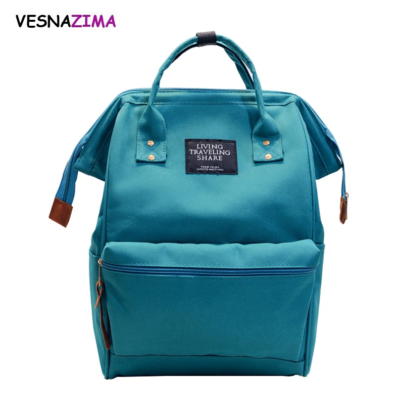 New 2018 Women Girls Backpack Nylon Backpacks School Bags For Teenagers Girl Boys mochila feminina Students Satchel Bag WM267Z(China)