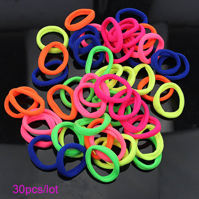 30pcs Women Elastic Hair Ties Band Ropes Ring Ponytail Holder Accessories