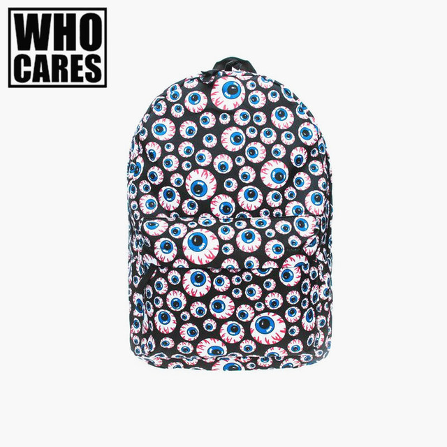 Branch Eyes 3D Printing Backpack Preppy style Blue Softback For School Student  back pack Hip-Hop mochila feminina Free Shipping