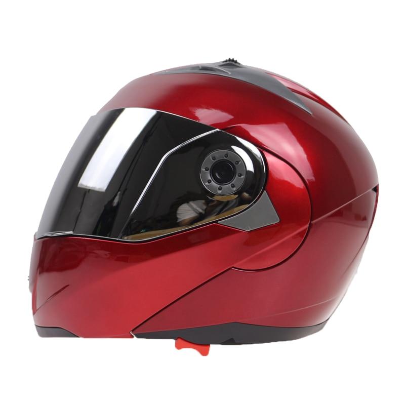 2016 Nieuwe Collectie Motorhelmen Klap helm op met zonneklep voor - Motoraccessoires en onderdelen - Foto 4