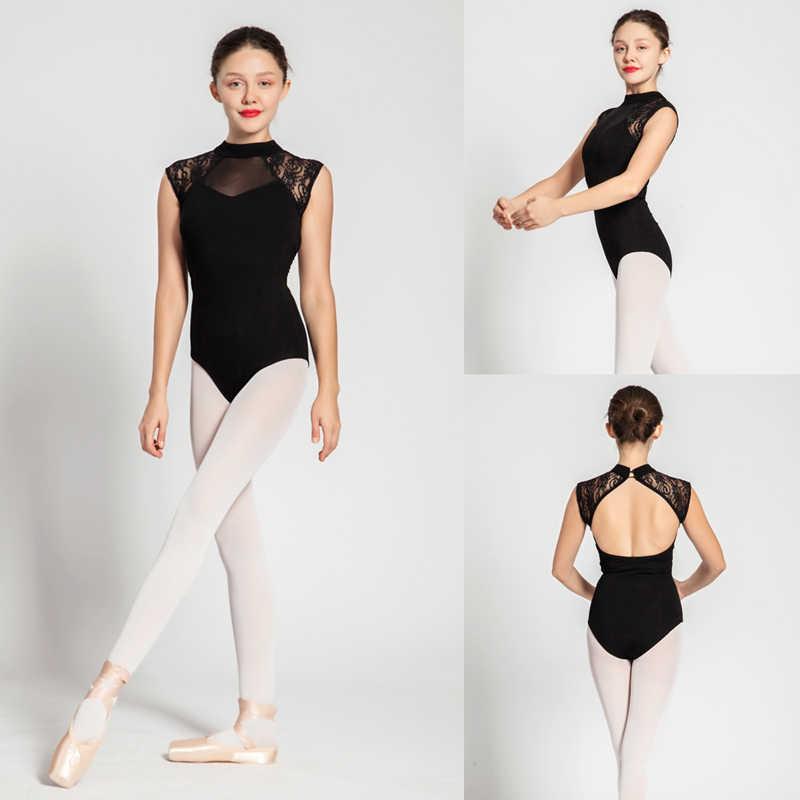 Балетное трико для взрослых 2019, черный удобный Танцевальный Костюм Для Занятий Аэробикой, гимнастическое трико, недорогая балетная юбка