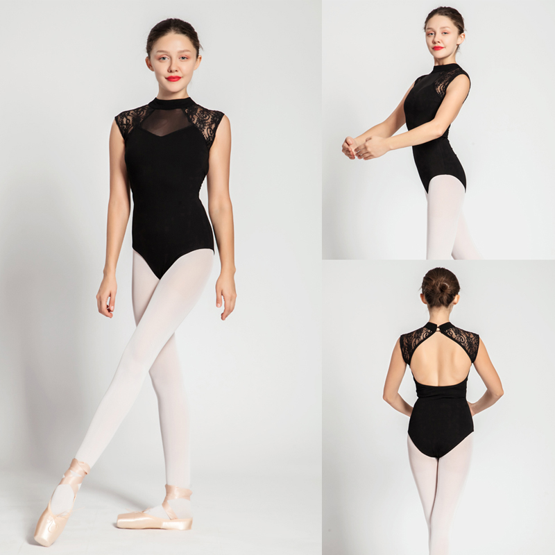 Ballet Leotard Adult 2020 Black Comfortable Practice Dance Costume Women Aerobics Gymnastics Leotard High Quality Ballet Skirt