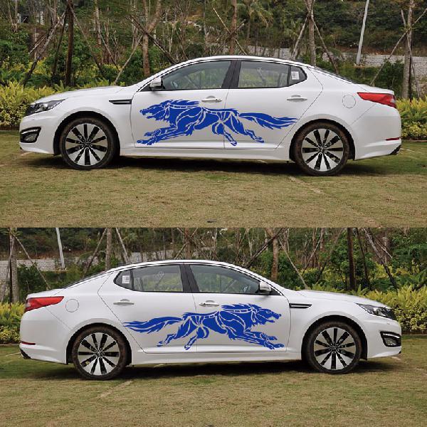 BEESCLOVER Fashion Car Decal Vinyl Graphics Stickers Hood Dual Racing Stripe Universal Use Black