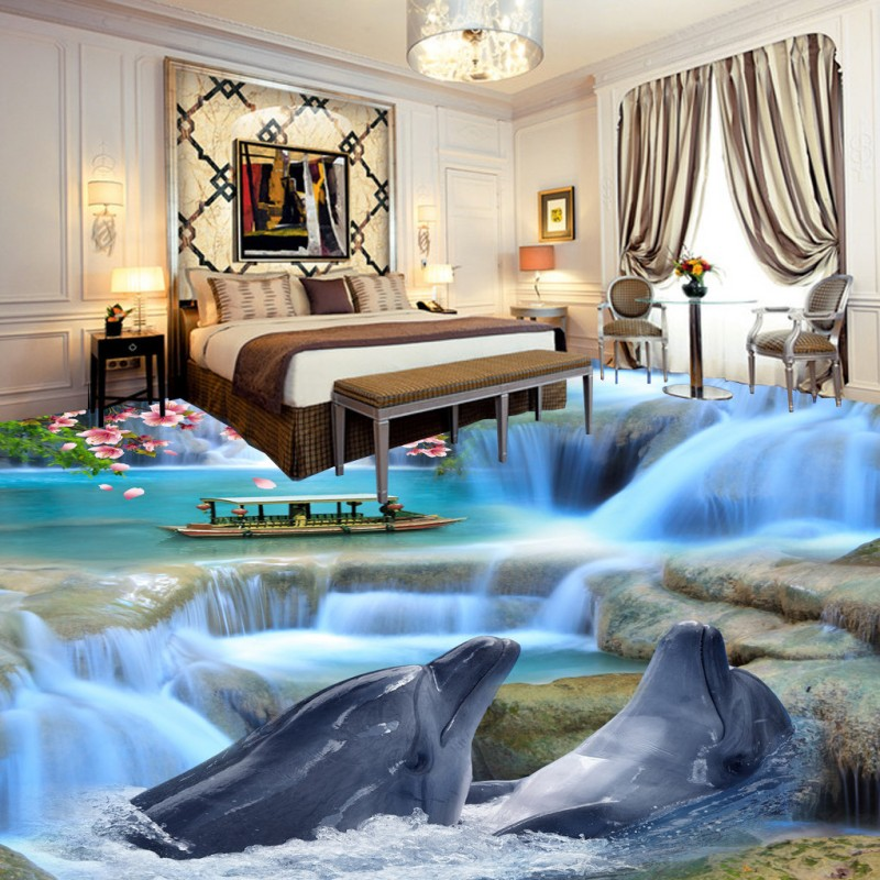 Free Shipping Beautiful Atmosphere Bathroom Bedroom 3D Floor wear non-slip shopping mall living room lobby office flooring mural free shipping waterfall hawthorn carp 3d outdoor flooring non slip shopping mall living room bathroom lobby flooring mural