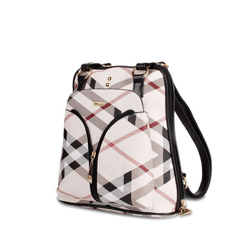 2017  Classic stripes new backpack fashion charming shoulder bag fresh college style child backpack women