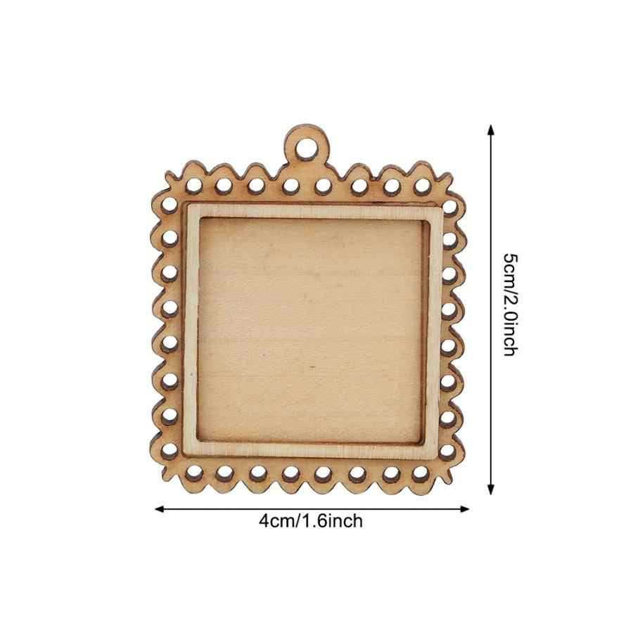 Carbon Road Wall Photo Frame 5pcs Wooden Rectangle Setting Emboss Blank Base Small Wooden Photo Frame Keychain Trays Frame