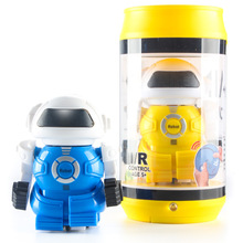 New Mini Pop Can RC Battle Robot Infrared Control Toy For Kids Gift