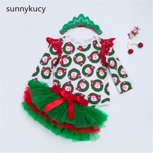 Get more info on the sunnykucy 2018 Tide Paragraph Christmas Long-Sleeved Dress Set Children'S Clothing Female Baby Quality Cotton Baby Clothes L211