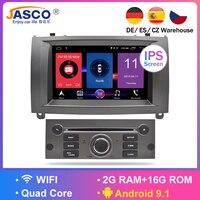 Android 9.0 9.1 RAM Auto Glonass GPS Navigation Car DVD Stereo Headunit for Peugeot 407 2004 2010 auto radio RDS Multimedia 16g