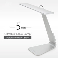 Ultrathin Mac Style 200LM LED 3 Mode Dimming Touch Switch Reading Table Lamp Built In Battery