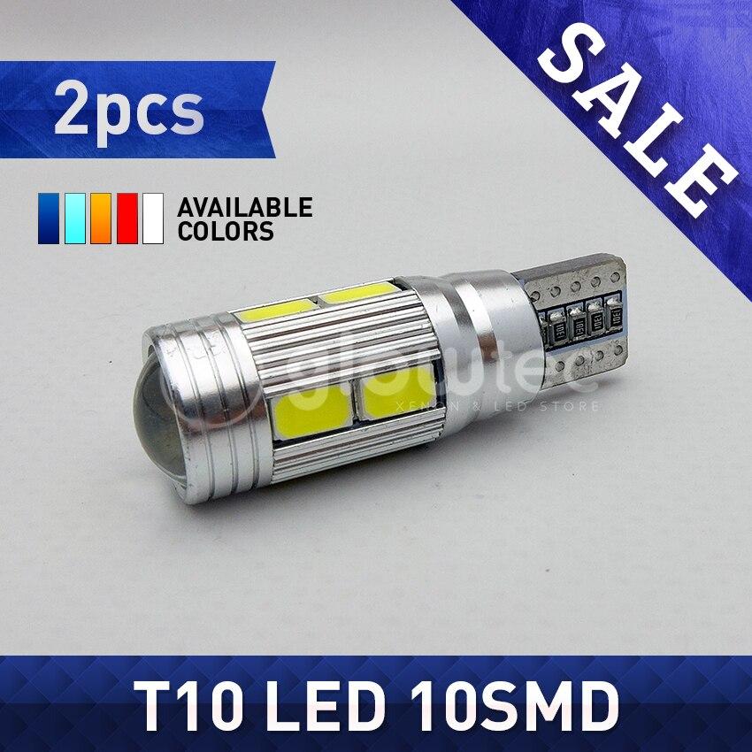 2 шт. T10 10SMD CANBUS 5630 SMD 194 W5W светодиодный автомобильный светильник без ошибок Автомобильная фара автобуса автомобильная лампа белый красный си...