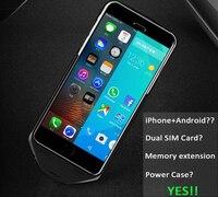 Чехол Smart Case i6 двойной режим ожидания GSM LTE 4 г SIM IOS системы Android Батарея мощность может телефонный звонок чехол для iPhone 6 S Plus