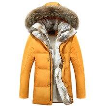 2016 Newest Men's Winter Coat 90% White Duck Down Jacket Plus Size 5xl Hooded Fur Outwear Fashion Women's Couple Clothing T617