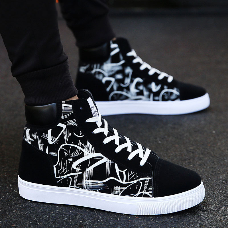Males Footwear New Males Informal Footwear Excessive Prime Sneakers Males Vulcanized Footwear Platform Sneakers High quality Males's Sneakers Masculinas