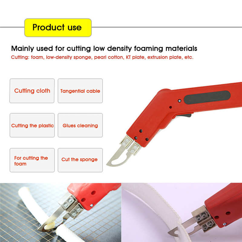 100W Hand Hold Electric Knife Foam Sponge Heating Cutting Knife Professional Thermal Cutting Equipment Slot Cutting Kit in Knives from Tools