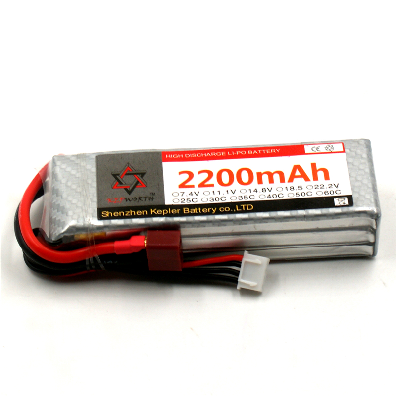<font><b>Lipo</b></font> Battery <font><b>3s</b></font> 11.1v <font><b>2200mAh</b></font> 35c Li-Polymer Battery For RC Car Plane Boat Helicopter Airplane Truck Tank image