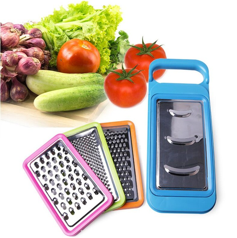 1PC Plastic Stainless Steel Multifunctional Vegetable Shredder Paring Knife Fruits And Vegetable Grater Potato Cutting Yarn
