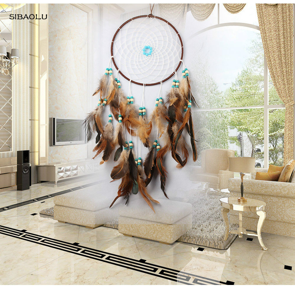 Hanging Decorations For Home: New Arrive Large Charm Dreamcatcher Handmade Dream Catcher