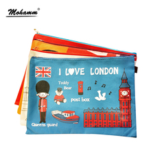 Oxford A4 Organizer Paper Holder Paper Bag File Office Stationery Document I Love London UK