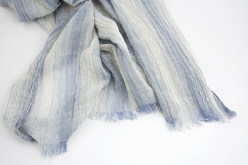 Striped Soft Cotton Scarf | Lightweight Scarves | Up to 60% Off Now