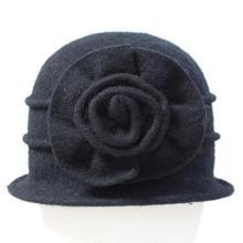 2018 New fashion European Autumn winter female hat elegant mom hats women 100% Wool floppy dome fedora middle-aged felt