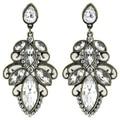 Latest Designer limpar flor moda de luxo Vintage jóias liga brincos para as mulheres