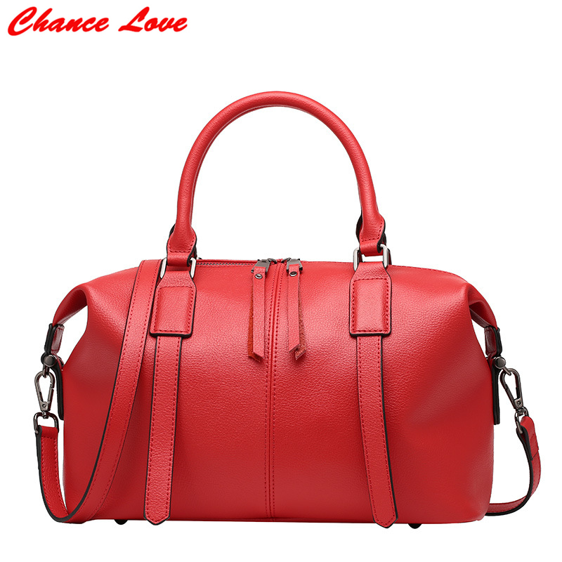 ФОТО Chance Love Women Handbags Satchels Shoulder Bags European and American Style Genuine Leather Spring and Summer High Quality Bag