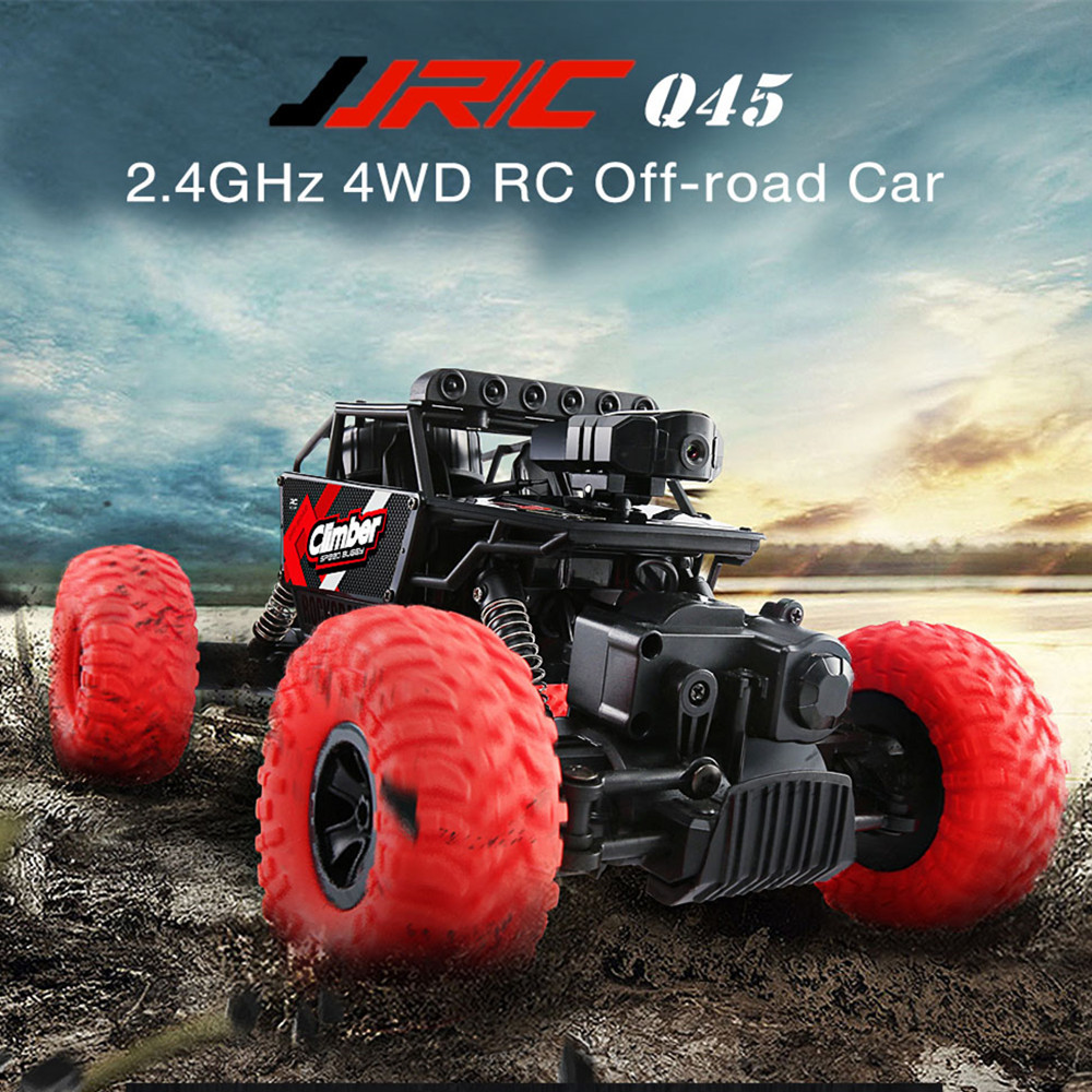 Jjrc q45 118 24ghz 4wd rc off road car wifi fpv 480p camera brushed jjrc q45 118 24ghz 4wd rc off road car wifi fpv 480p camera brushed app control independent suspension system rc crawler truck publicscrutiny Images