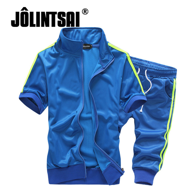 Jolintsai 2017 Men Clothing Set Plus Size 5XL Men Hoodies Shorts Summer Tracksuit Men Moleton Masculino Sweatshirt 2 Pieces Set