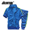 Jolintsai 2017 Plus Size 5XL Sportwear Men Hoodies Short Pants 2PCS Tracksuit Men Moleton Masculino Sweatshirt Sweat Sets