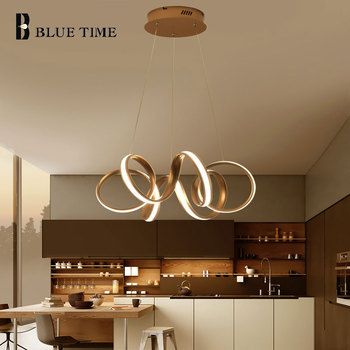Modern Led Gold Pendant Light Home Lighting Surface Mounted Pendant Lamp Dining room Restaurant Kitchen Luminaires Gold Lights