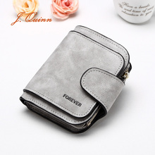 J.Quinn New Fashion Small Short Lady Wallet PU Leather 6 Credit Card Zipper Coin Pocket Purse for Women Cute Wallets Holder