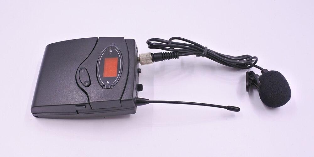 Système sans fil Portable de microphone de collier de lavalier de karaoké système de clip de guide touristique rechargeable d'uhf bon pour l'usage extérieur-in Microphones from Electronique    3