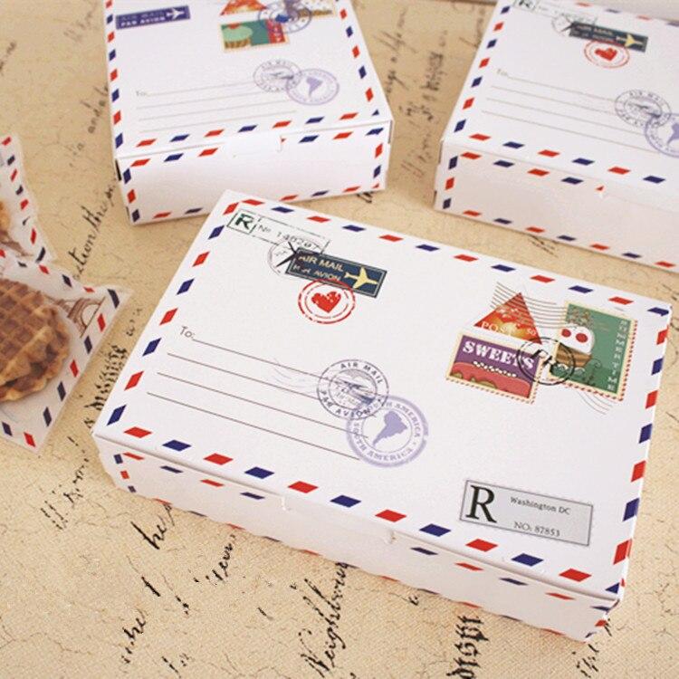 ⊱Envío libre patrón decoración pastel blanco largo galleta cajas de ...