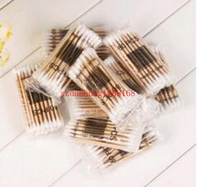 Free  Women Beauty Makeup Cotton Swab Double Head Cotton Buds Make Up Wood Sticks Nose Ears Cleaning Cosmetics Health Care