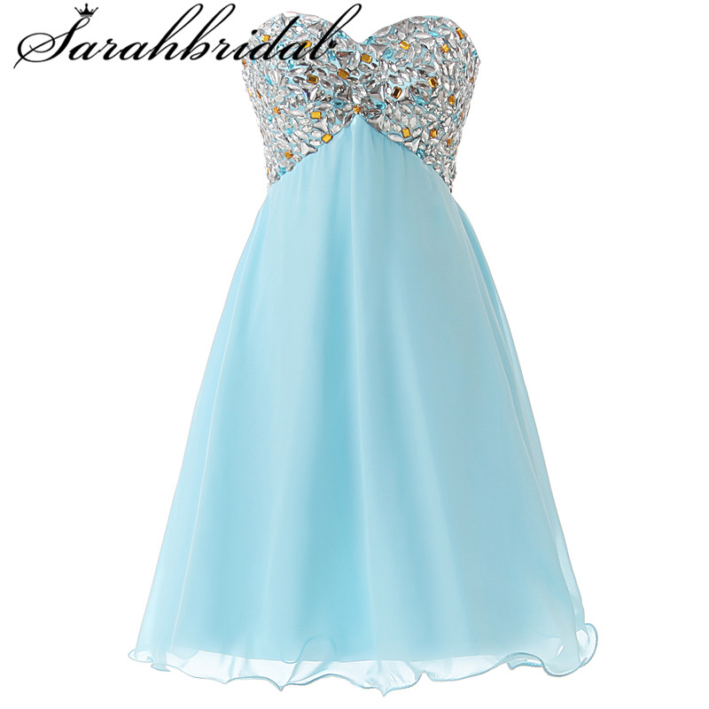 Short Graduation Dresses Formal 2019 Crystal Lace Up Ever Pretty Tulle Dress Prom Homecoming Gown SD093