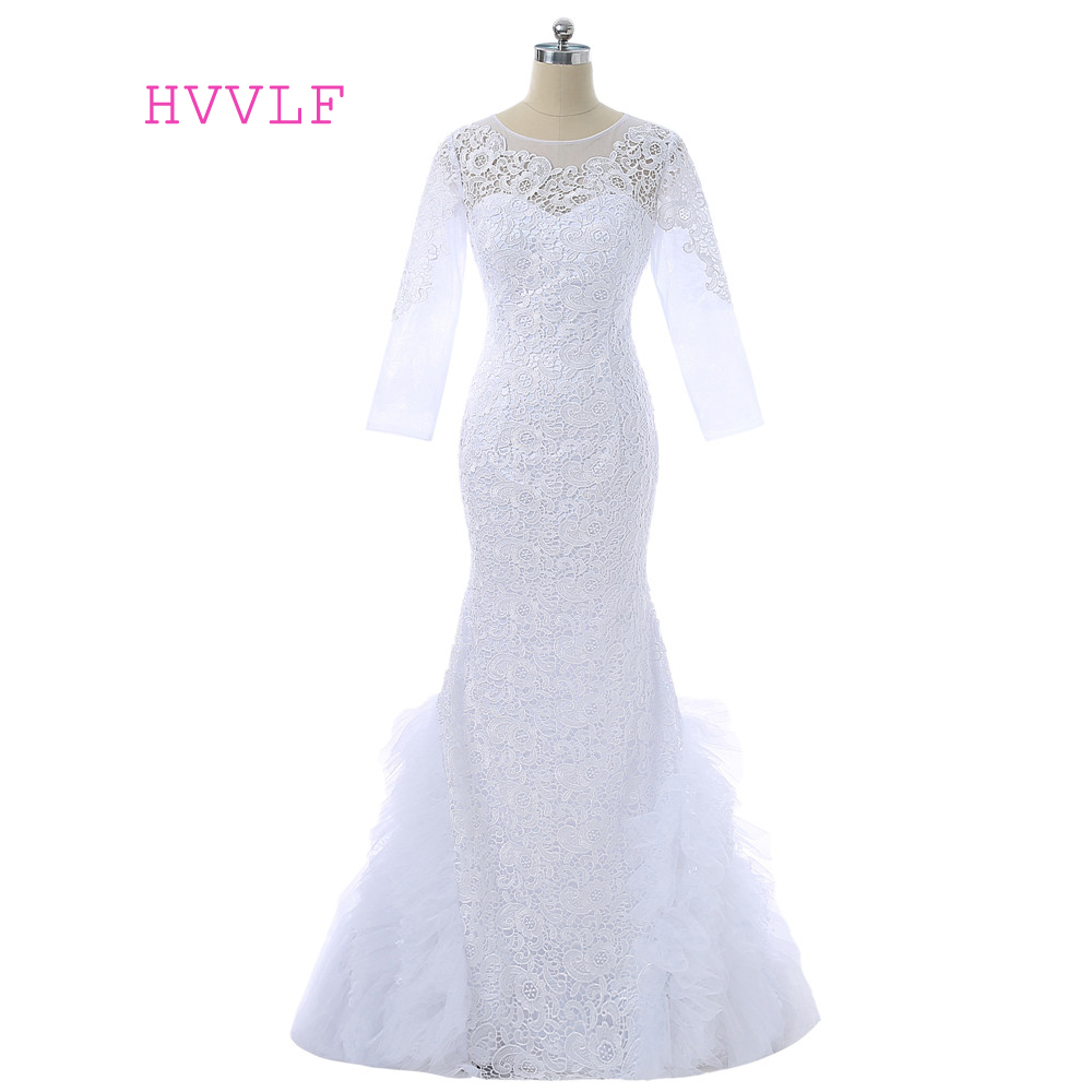 White 2019 Mother Of The Bride Dresses Mermaid Long Sleeves Lace Long Evening Dresses Mother Dresses For Weddings Plus Size