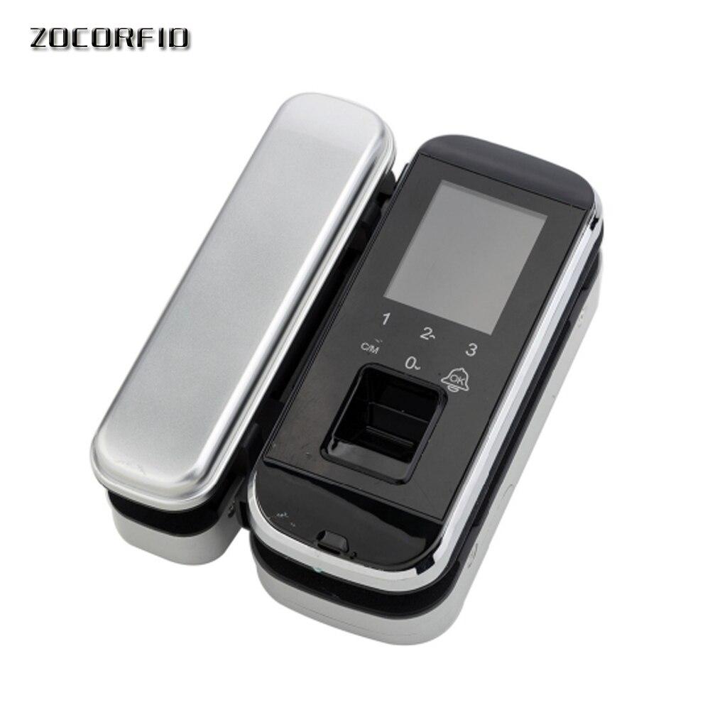 DIY so einfach Biometrische Fingerprint Türschloss Für Büro Glas Tür Keyless Mit Touch Tastatur Fernbedienung Intelligente Sperre - 4