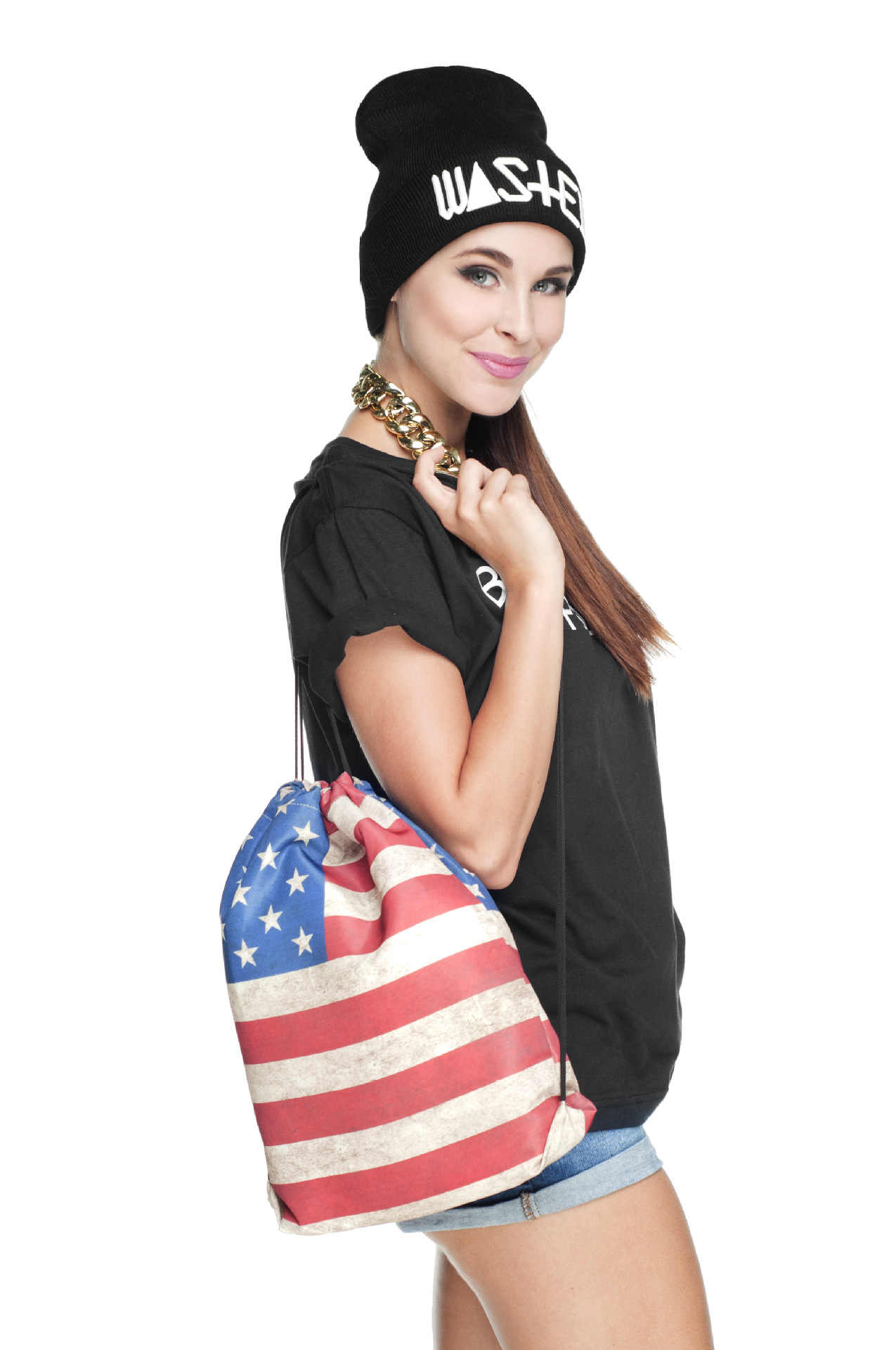 ... 3D Printed Female Student Schoolbags Vintage Drawstring Bags Hot Sale USA  American Flag Backpack 5da01f3c1