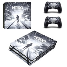 Metro Exodus PS4 Pro Skin Sticker For Sony PlayStation 4 Console and 2 Controllers PS4 Pro Skin Stickers Decal Vinyl