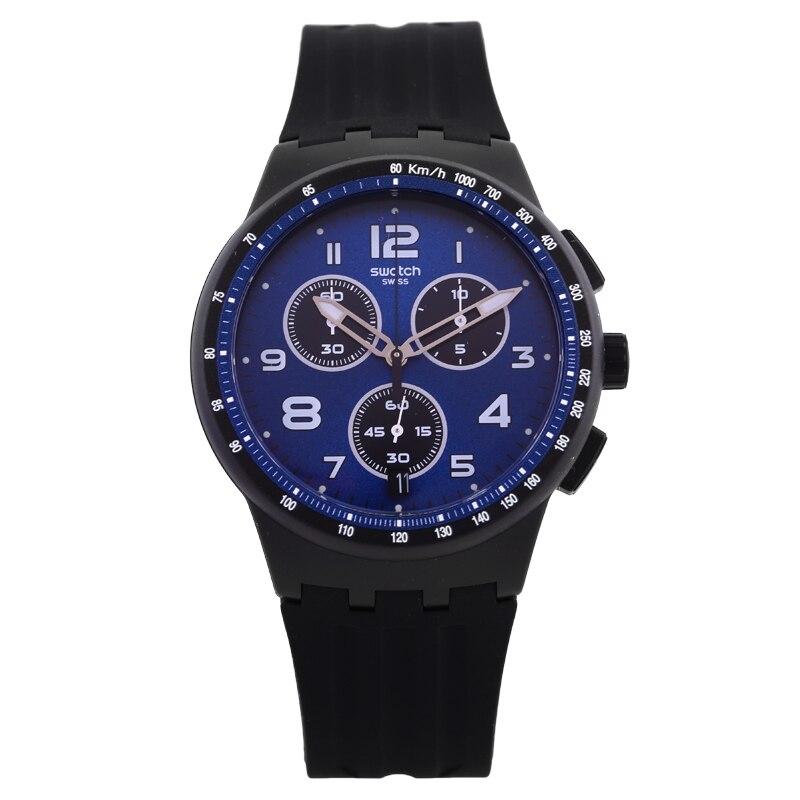 Swatch Watch Jellies Calendar Chronograph Quartz Watch SUSB402 swatch original colorful quartz watch suob135