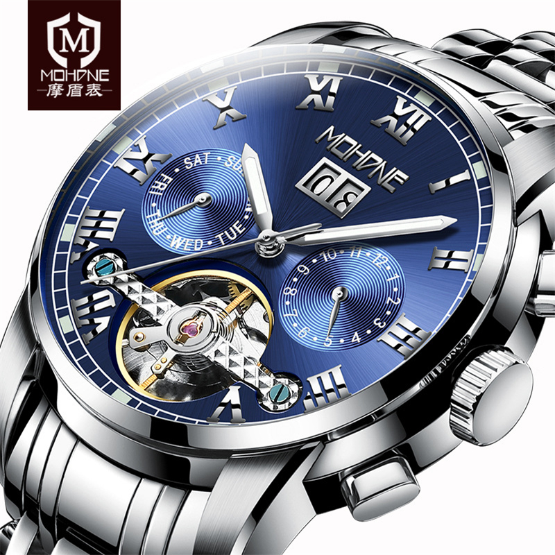 Top Mens Watches 2018 Luxury Brand Automatic Mechanical Watch Men Tourbillon Clock Male Skeleton Wristwatch Hodinky Montre Homme
