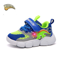 Kid Shoes Sneakers Dinoskulls Toddler Boy Light-Up Baby Breathable for Led Sports-22-26