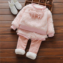 2016 fashion baby girl clothing sets cute cartoon pattern infant toddler clothing sets for autumn and