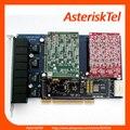 4 FXO + 4 FXS Портов TDM800P с Аппаратной Эхо Asterisk FXS FXO digium карты digium pci Для IP phone System TDM808B