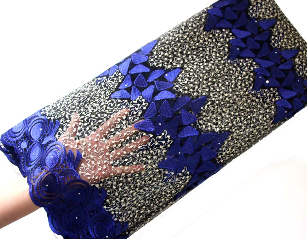 royal blue african lace fabric